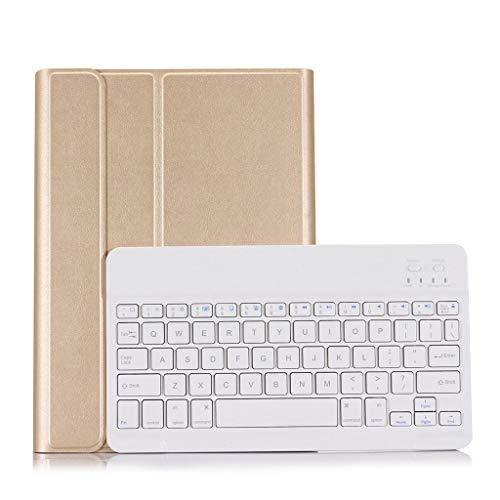 Hunpta@ Mini-Ultra-Thin-Mute Drahtlose Tastatur und Maus Combo, Stylish Compact Full-Size Keyboard und Stream-line Optical Mouse für PC, Desktop, Notebook, Laptop, Ipad Air&Air2&pro 9.7 (Gold) - Optical Desktop Combo