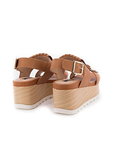 Sandale MTNG 50790 en cuir Marron