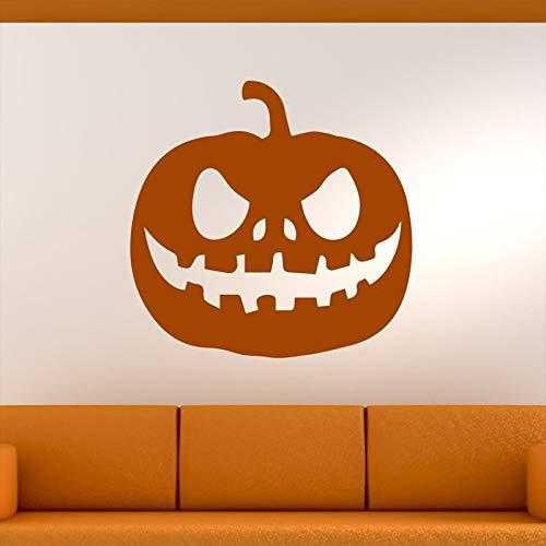 57X57 cm Bösen Kürbis Kopf Halloween Wandkunst Aufkleber für Urlaub Wohnzimmer Hintergrund Dekoration Vinyl Tapete Aufkleber
