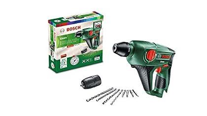 Bosch Martillo perforador a batería Uneo (12 V, Portabrocas adicional para brocas cilíndricas, Sin batería, Sin cargador, Power for all, 2,5 Ah, Perforación máxima en hormigón 10 mm, Sistema SDS)