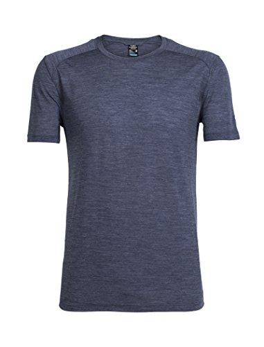 Icebreaker Herren Sphere Short Sleeve Crewe T-Shirt, Midnight Navy Hthr, S -