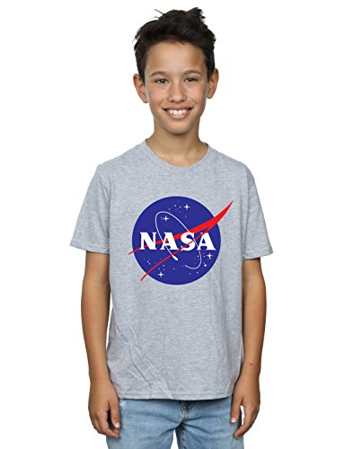 Nasa niños Classic Insignia Logo Camiseta 7-8 Years Gris Sport