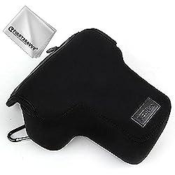Negro Funda Cámara Reflex Neopreno Protectora para Nikon D5600 D3400 D5500 D3300 D5300 D5200 D5100 D5000 D3200 D90 D80 D3100 D3000 Adecuado para 18-55mm Lens QSL-SLRS-N-A01G11