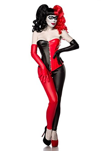 Atixo Bad Harlequin Kostümset - rot/schwarz, Größe - Herbst Fairy Kostüm