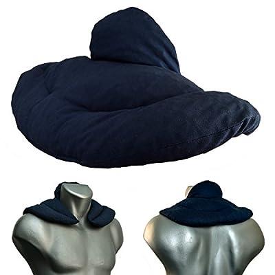 Nackenhörnchen mit Stehkragen dunkelblau; Nackenkissen Wärmekissen - Ein sehr wohliger Nackenwärmer
