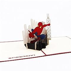 Idea Regalo - uniqueplus Spider Man creative 3d pop up Greeting Cards regalo per bambini, compleanni o qualsiasi occasione