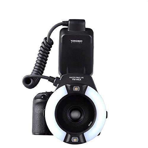 Yongnuo YN-14EX Macro Ring TTL-Blitzlicht + Adapter fuer Canon DSLR 7D 6D LF464