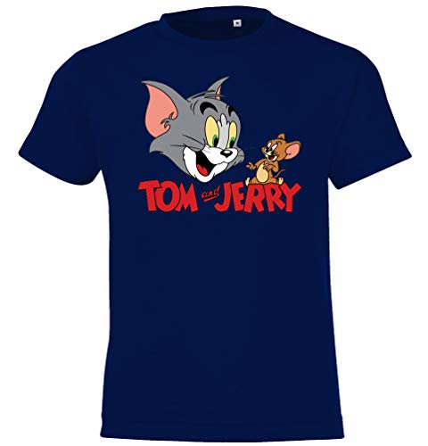 T-Shirt Modell Tom Jerry Tom, Gr. 130/140 (10 Jahre), Navyblau ()