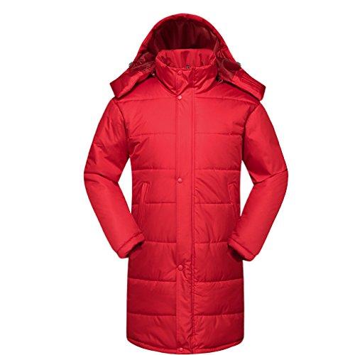 WTUS Camouflage long coat hommes et femmes manteau de coton à la mode coupe-vent extérieur Rouge