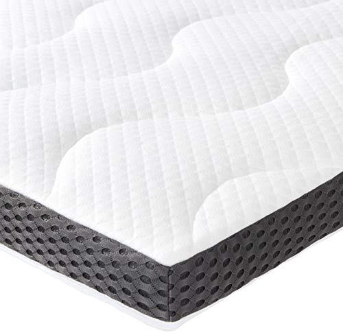 AmazonBasics - Gel-Schaumstoff-Auflage 7 cm - 180 x 200 cm - Weiche Wärme-matratze-auflage