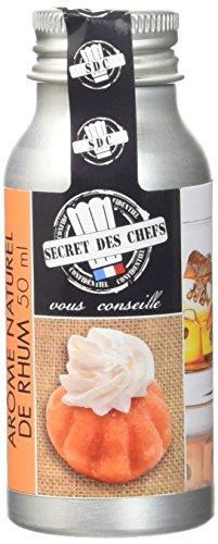 Secret des Chefs Arome Naturel Rhum 50 ml - Lot de 2