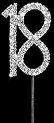 Idea Regalo - Sparkly Diamante Cake Topper Number 18 by Brides Companion