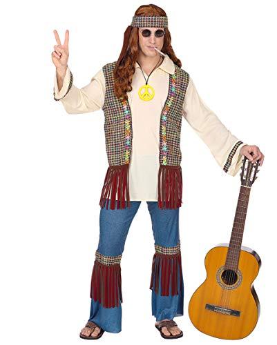 Francisco Für Hippie Erwachsene San Kostüm - Horror-Shop 70's San Francisco Männerkostüm mit Stirnband & Kette XL