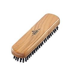 Kent CC2 Cherrywood Pure Black Bristle Travel Size Cloth Brush