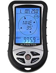 Senderismo Cámping al Aire Libre 8 en 1 Compás Digital del LCD Barómetro Altímetro Temperatura del Termómetro Reloj Calendario
