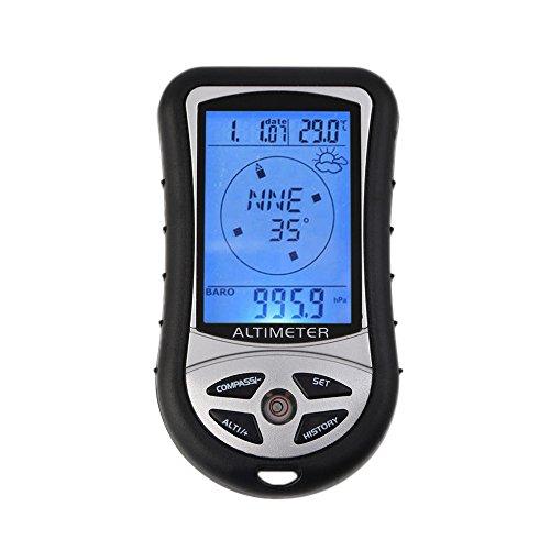 efceb5358c8 Outdoor randonnée camping 8 en 1 LCD numérique compas altimètre baromètre  thermomètre température horloge calendrier
