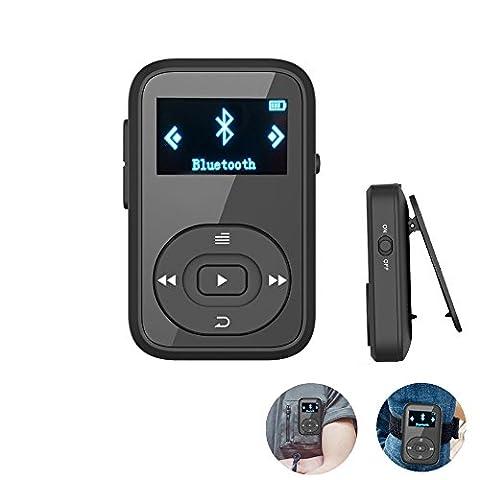 ChenFec Lecteur de musique MP3 8Go pour le sport ou la course à pied, affichage par dossiers, son HiFi, Bluetooth