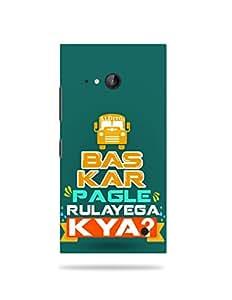 alDivo Premium Quality Printed Mobile Back Cover For Nokia Lumia 735 / Nokia Lumia 735 Back Case Cover (MKD274)
