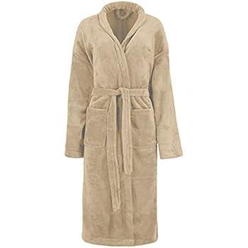 Super weicher und leichter Bademantel Morgenmantel Saunamantel Uni für Damen  und Herren in den Farben: