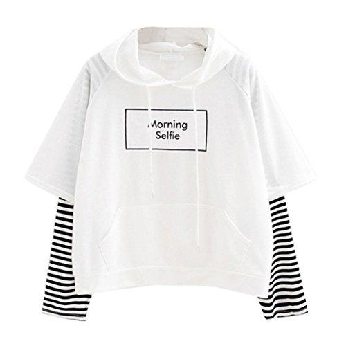 Damen Hoodie, VEMOW Frauen Brief gedruckt Sweatshirt Langarm Nähen Bluse Tops