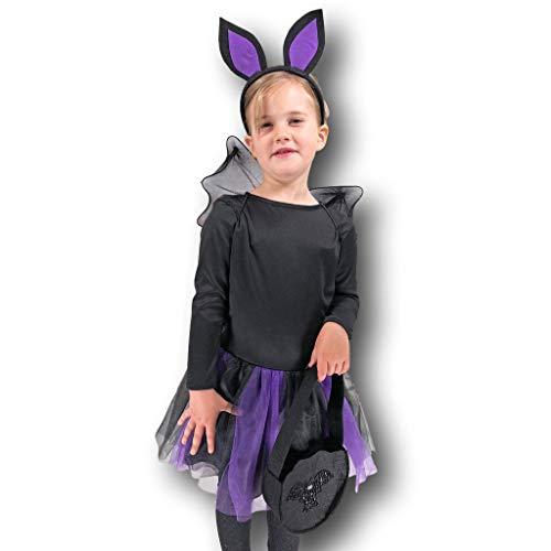 Batte pour enfant Violet pour fille fée Reine déguisement Batgirl
