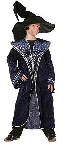 W3547-140 blau Jungen Zauberermantel Magierkostüm Gr.140