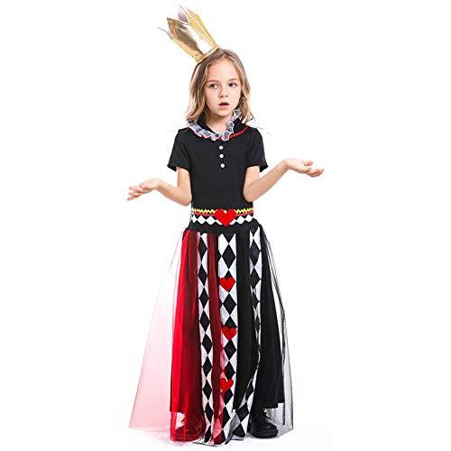Kostüm Märchen Königin - AIYA Halloween-Mädchen-Märchen-Cosplay-Poker-Königin-Druck-Overall