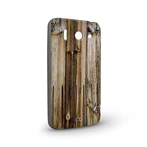 Handyschale Handycase für Huawei Ascend G510 veredelt mit YOUNiiK Styling Skin - Holz Plank