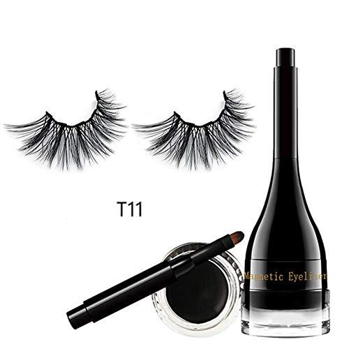 Eyeliner Magnetic Eyeliner And Lashes Kit - Eyeliner magnétique à utiliser avec les cils magnétiques 3D, sans colle