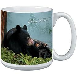Tree-Free Greetings Árbol de-free XM29883 20 oz de felicitación L-XL Familia oso Wildlife polvos de cerámica taza de café con diseño de barco