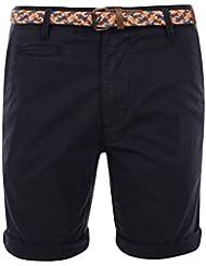 Bellfield Herren Hemmingway Chino Shorts, Braun