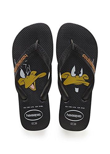Havaianas Unisex-Erwachsene Looney Tunes Zehentrenner, Schwarz (Black 0090), 39/40 EU