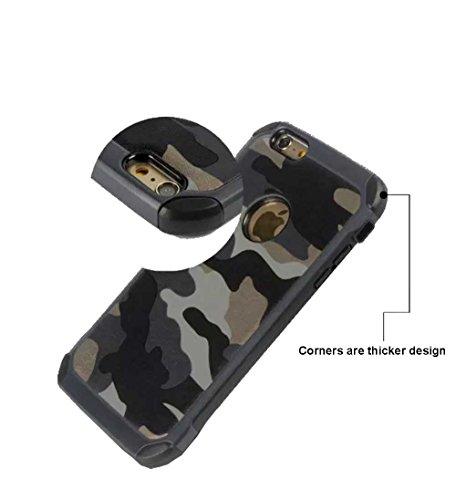 Coque de protection de téléphone portable motif camouflage pour iPhone 6/iPhone 6 Plus/iPhone 55S, résistant aux chocs, plastique, vert militaire, iPhone 6