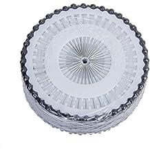 ROSENICE Pearl pernos de cabeza recta Manmade 3mm para artesanía de coser decorativos 480pcs (negro)