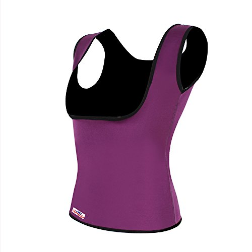 Figurformendes Damen-Neopren-Top, Bodytrimmer, Schwitz-Top für die Sauna, Yoga-Anzug, Bauchweg-Top, zur Gewichtsreduzierung, , violett, S-UK 6-10 / EU 34-38 (24-28 waist)