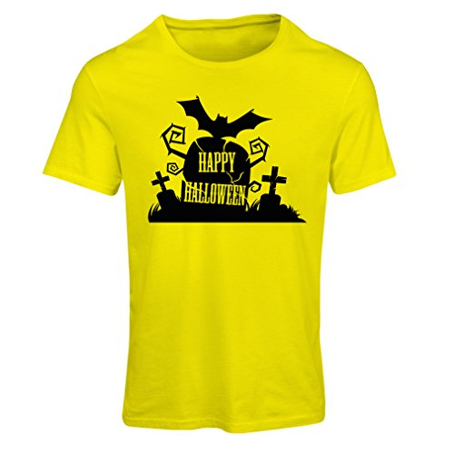 Frauen T-Shirt Halloween Graveyard Outifts - Costume Ideas - Cool Horror Design (X-Large Gelb (Horror Kostüme Australien)