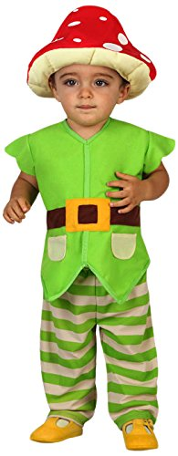 ATOSA 23746 Karnevalskostüm, Unisex-Kinder, Grün, 12-24 Monate