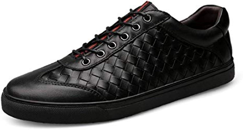 Scarpe da Ginnastica Casual di Design a Quadri Confortevoli da Uomo (Coloreee   Nero, Dimensione   8 UK) | Promozioni speciali alla fine dell'anno  | Uomo/Donna Scarpa