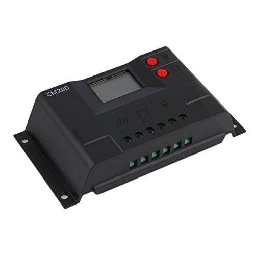 Nouveau 10A 12/24 Auto Écran LCD Affichage PWM Panneau Solaire Contrôleur de Charge Noir