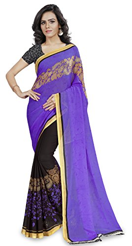 Anand Sarees Georgette Saree with Blouse Piece (1190_4_multicolour_Free size)