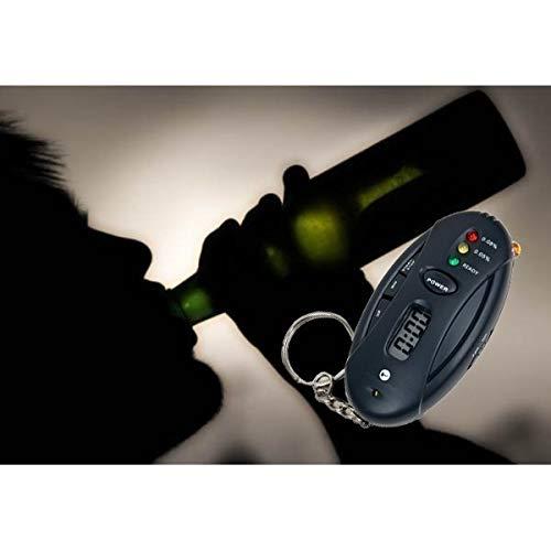 Test Alkohol Schlüsselanhänger Alkoholtester Digital schwarz Notebook Taschen-Multimeter mws912
