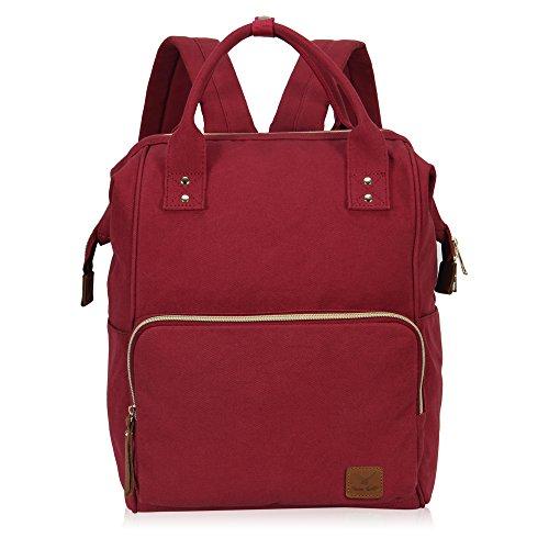 Imagen de veevan bolso  casual de lona para ordenador portátil de 15,6 pulgadas unisex rojo 02