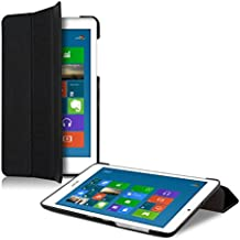 kwmobile Funda para Acer Iconia Tab 8 W1-810 - Smart Cover de cuero sintético para tablet - Case ultra delgada para tableta en negro