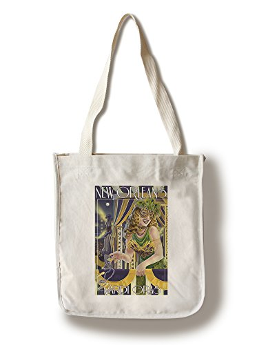 Lantern Press Mardi Gras–New Orleans, Louisiana Canvas Tote Bag ()