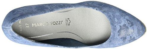 Marco Tozzi Premio 22446, Scarpe con zeppa Donna Blu (Denim Comb 853)