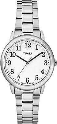 Timex Reloj Analogico para Mujer de Cuarzo con Correa en Acero Inoxidable TW2R23700 de Timex