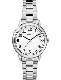 8b1e8c716212 Timex Reloj Analogico para Mujer de Cuarzo con Correa en Acero Inoxidable  TW2R23700