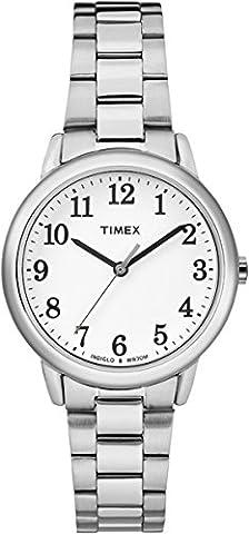 Timex - TW2R23700 - Montre - Quartz -Affichage - Analogique - Bracelet - Acier Inoxydable - Argent - Cadran - Blanc - Femme