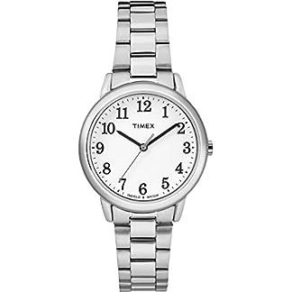 Timex Reloj Analogico para Mujer de Cuarzo con Correa en Acero Inoxidable TW2R23700