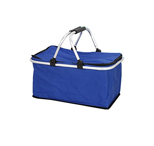 noorsk Panier de courses pliable en plastique Idéal comme sac Panier de courses pliable ou panier de pique-nique Taille unique noir/rouge OLT9FAIGv